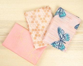 Spring Shimmer by Jennifer Sampou - 1/2 Yard Fabric Bundle (3 Prints)