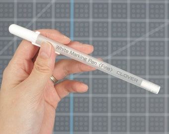 White Water Soluble or Iron-Off Marking Pen for Dark Fabrics