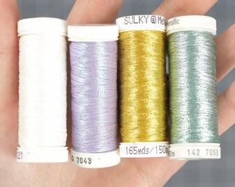 Sulky Original Metallic Nylon / Polyester Thread - 4 Pack Variety