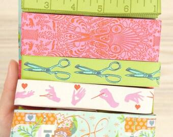 Tula Pink Home Made Morning Designer Ribbon Pack by Renaissance Ribbons