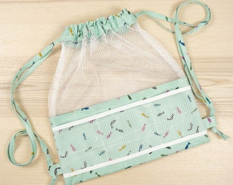 Meshing Around Drawstring Backpack - ByAnnie Sewing Pattern + Notions Kit (BONUS VIDEO)