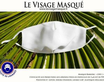 UNS1 White Mask - 93% filtration - fog mask