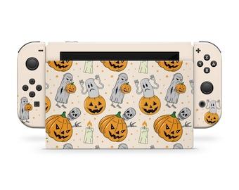 Pumpkin nintendo switches skin Halloween ,spooky Kawaii switch skin Full cover decal vinyl 3m stickers