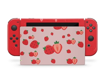 Nintendo Switches skin Cute strawberry, Strawberry switch skin Full cover 3m