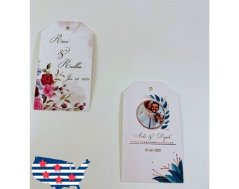 Party Favour Gift Box Tags Traditional Tags Paper Gifts Pack of 50 Paper Small Traditional Print Gift Tag Indian Tags Wedding Gifts