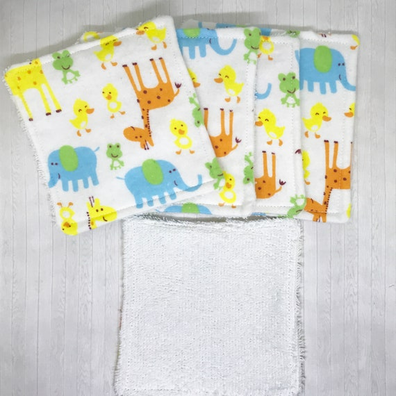 Reusable Cloth Baby EcoWipes Pack of 5 OR SINGLE Sampler