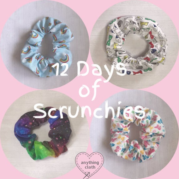 12 Days of Hair Scrunchies Advent Calendar