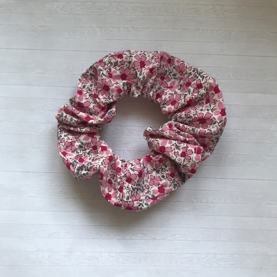 Pink Floral Liberty Inspired Hair Scrunchie