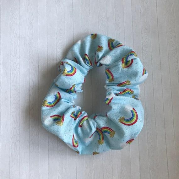 Rainbow Hair Scrunchie