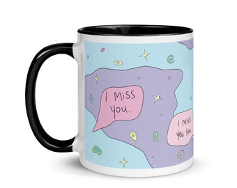 I miss you mug   11oz   Colorful mug   Weird Mug   Ceramic Mug   Unique Mug   Gift for friend   FREE US SHIPPING