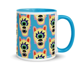Tiger Cyclops Mug! 11oz Ceramic Mug   FREE US SHIPPING   Colorful Mug   Mug with Patter   Kids mug  Awesome mug   Weird Mug   Fun Mug