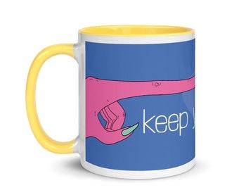 Keep Ya Distance, Quarantine Mug. 11 oz   FREE US SHIPPING   Weird Mug   Pandemic Mug   Colorful Mug   Funny Mug   Unique Mug