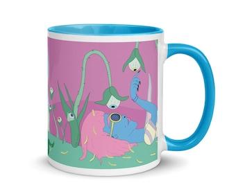 Colorful Mug   Weird Mug    Unique Mug   Pink Mug   Fun Mug   Coffee Mug  11oz Mug   FREE US SHIPPING