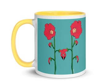 We Are In This Together. Colorful, illustrated Ceramic Mug. 11 oz. FREE US SHIPPING