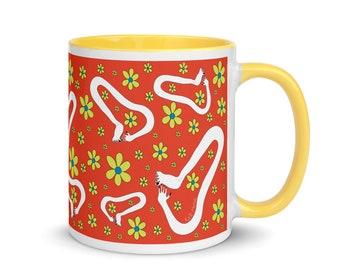 Tickle Mug 11oz Ceramic mug with handle   Weird mug   Unique Mug   abstract mug   Surreal mug   FREE US SHIPPING