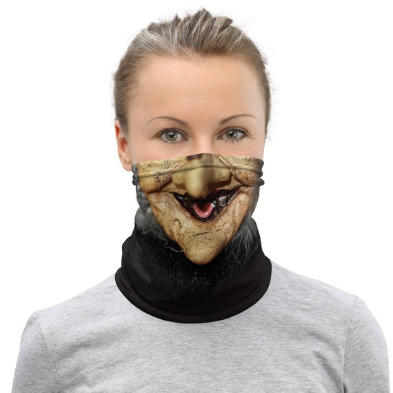 Witch Face Neck Gaiter / Face Mask / Buff / Tubular Scarf