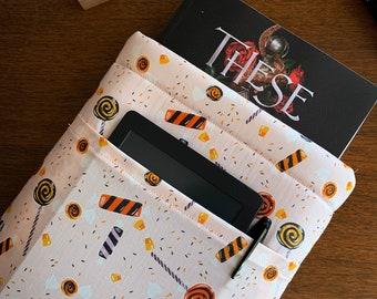 Sweet Treats Padded Fabric Book Sleeve with Pocket