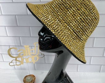 Bling Bling Bucket Hats Great Gift for her! Stylish Studded Rhinestone Sparkling Bucket Hat 10 different Color Rhinestone Bucket Hat