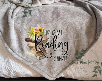 Book Lover Blanket Etsy