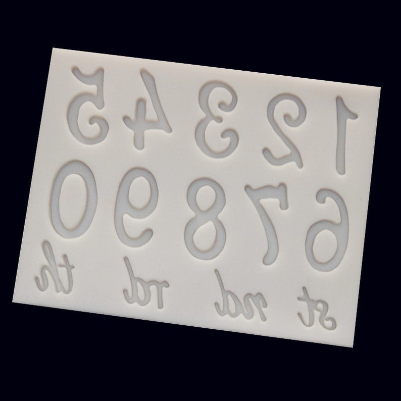 silicone mold resin clay numbers 0-9 mold decor for chocolate cake baking tools