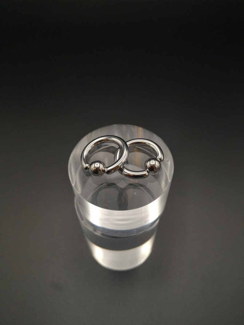 Surgical stainless steel 316 grade 4mm6g heavy gauge BCR/'s