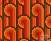 Vintage Lines Geometric Groovy Fabric by The Yard, Vintage Decorative Indoor Outdoor Fabric