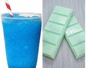 Blue Slush, Highly Scented, Soy Wax Melts, Slush, Gift, Snapbar, Clamshell, Deli Pot, Soy Wax
