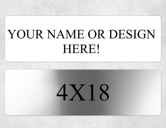 Custom sign, Aluminum,  Personalized with Custom Text, Name plate, wall decoration, classroom signs
