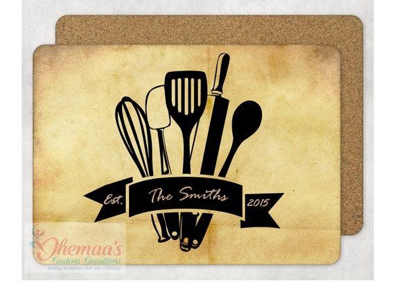 Custom Printed Hardboard Style Personalized Table Topper Placemat Photo Image Text Tableware Dining Coaster