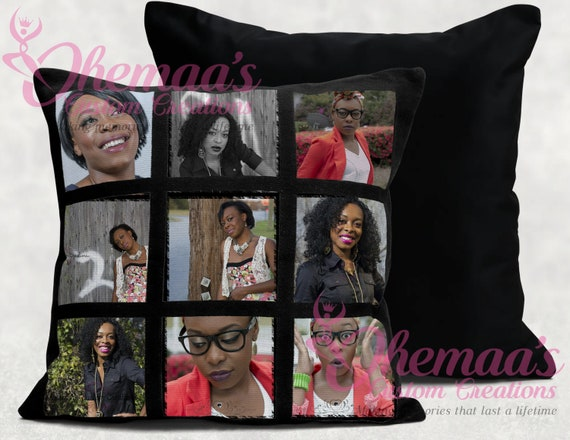 Photo Collage Pillow case!  9 Panel Photo Memories - GREAT for Graduations, Valentines Day, Mother's Day, Father's Day, Birthdays!