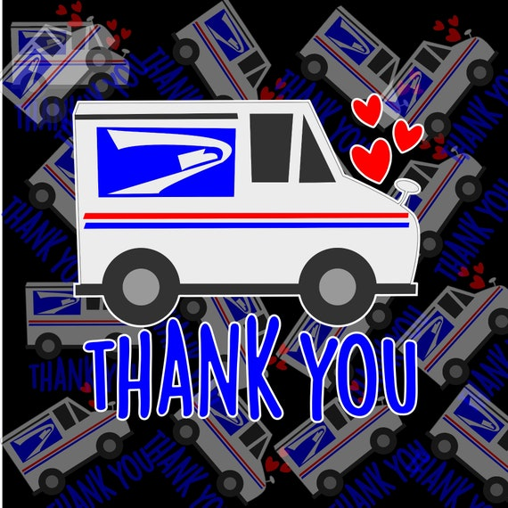 Thank you postal carrier | mail carrier | USPS | sticker decal