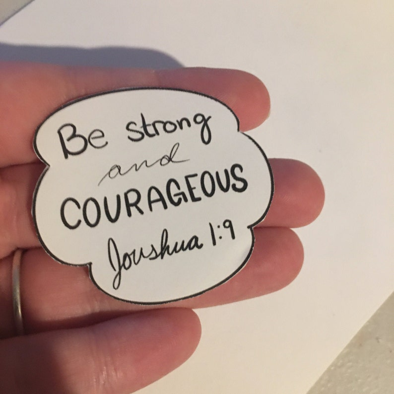 Joshua 1:9 Sticker