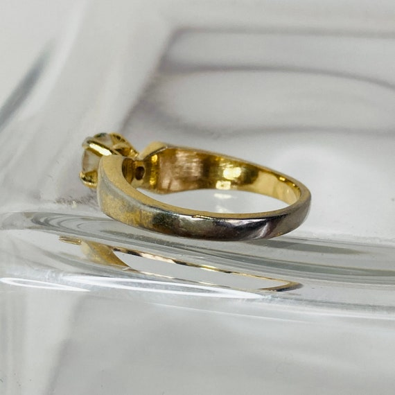 18K Gold HGE Ring - Size 6 Solitaire Ring - gold … - image 8