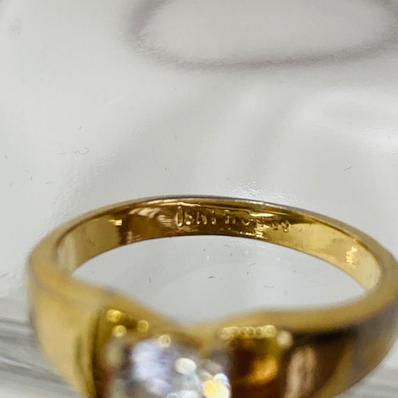 18K Gold HGE Ring - Size 6 Solitaire Ring - gold … - image 10