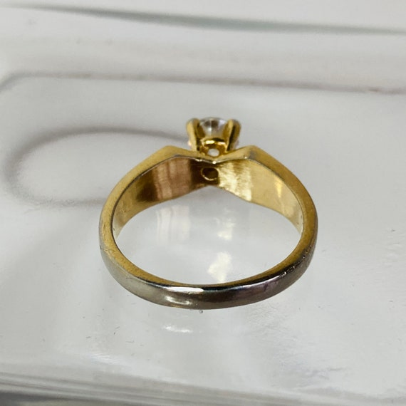 18K Gold HGE Ring - Size 6 Solitaire Ring - gold … - image 9