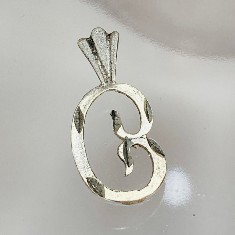 Alphabet Pendant 925 Sterling Silver Pendant vintage Letter C Sterling Pendant