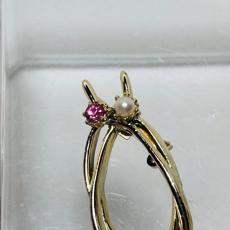 vintage wishbone pin Golden Wishbone Pin Double Wishbone pin GERRYS Wishbone Brooch Pin