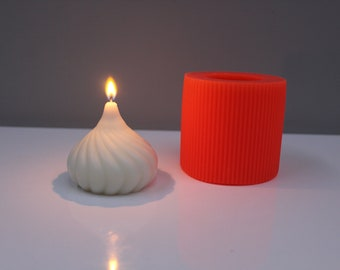 Handmade silicone candle mold  GENTLE TWIST