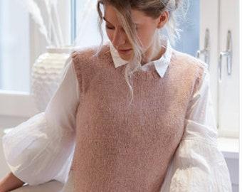 Weste Long vest Vest Women/'s Vest Purple vest Vest in a cage elegant waistcoat elegante Weste long vest Straight vest