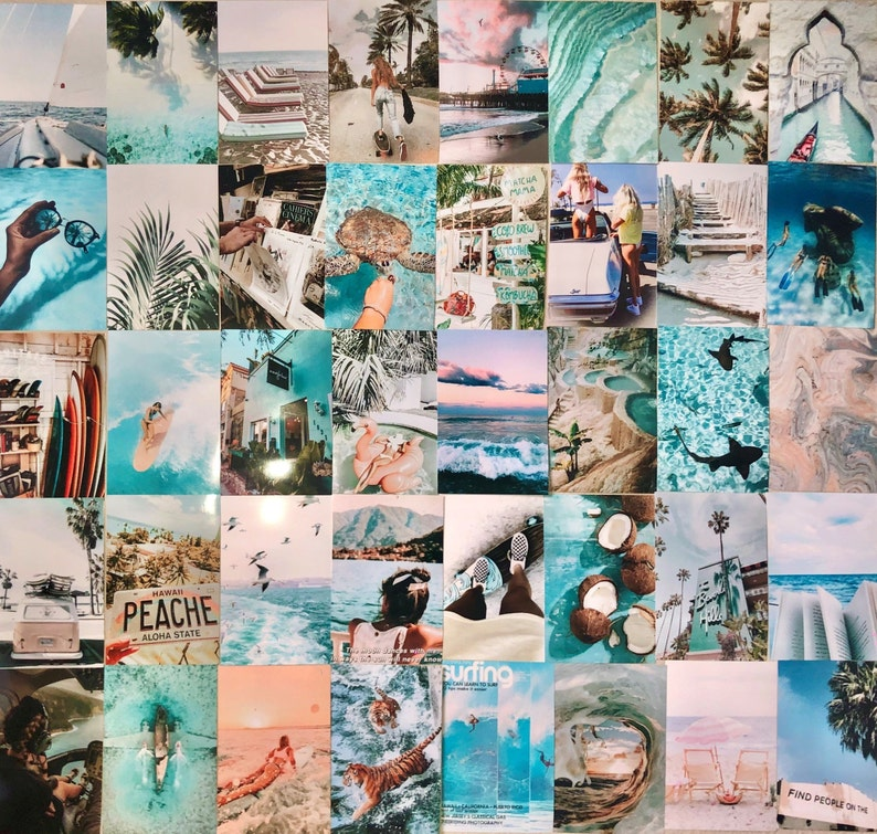 Beach Aesthetic Wall Collage Pictures