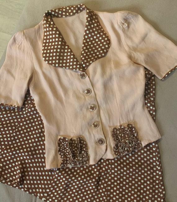 1940s Polka dot summer suit