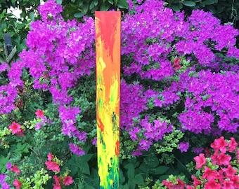Garden stele - artistically designed (rainbow)
