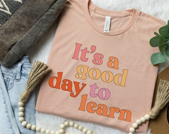 Inspirational Teacher Shirt Learning Shirts Teach Love Inspire shirt Student learn Elementary School Cute Teacher Back to School Custom Gift
