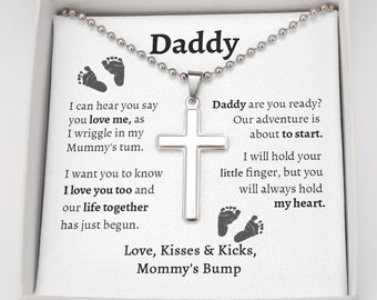 Daddy To Be Gift From Bump, Dad to Be Birthday Gift, Soon To Be Dad Gift, Birthday Gift For New Dad From Baby, Gift From Unborn Baby to Dad