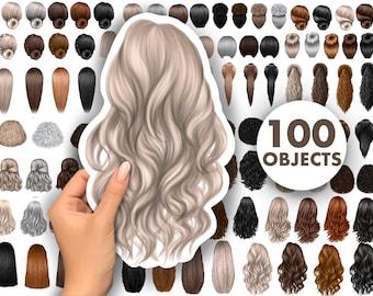 Hair clipart, Natural hair black woman clipart, natural hair, digital Instant Download PNG