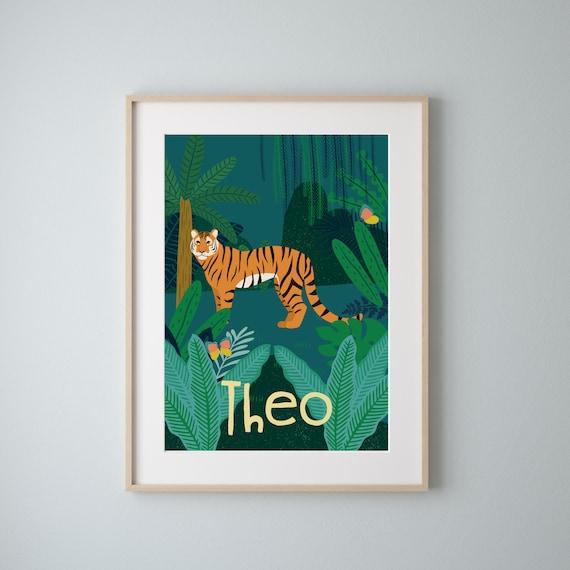 Jungle Safari Animals Decor | Jungle Theme Bedroom Art | Safari Theme Bedroom | Jungle Nursery | Safari Nursery | Jungle Art | Personalised