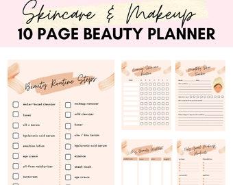 Beauty Planner   Skin Care Routine   Beauty Journal   Beauty Organiser   Beauty Diary   Makeup Diary   Beauty Tracker Digital Printable