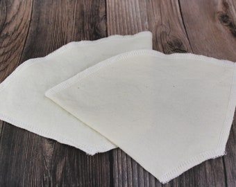 Reusable coffee filter #4, Pour over cloth coffee filter, zero waste cotton coffee filter