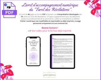 Livret d'accompagnement du Tarot des Révélations - PDF ou imprimé - Interprétation des cartes oracle - En Français uniquement
