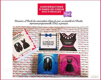 Conversations d'Âmes de cœur - En Français - 84 cartes glossy - Boîte personnalisée - Avec ou sans boîte/bordure or - Guidance - Auto-édité